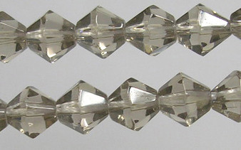 4mm - Imperial Glass - Gray - 2 strands - (approx 180pcs) - Glass Bicone