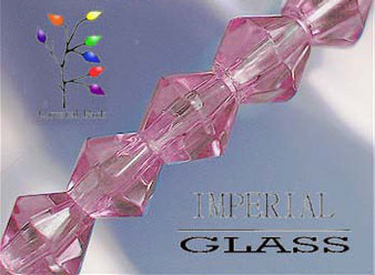 4mm - Imperial Glass - Pink - 2 strands - (approx 180pcs) - Glass Bicone