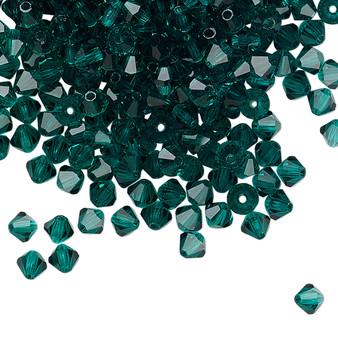 4mm - Preciosa Czech - Emerald - 48pk - Faceted Bicone Crystal