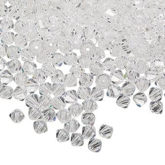 4mm - Preciosa Czech - Crystal Clear - 48pk - Faceted Bicone Crystal