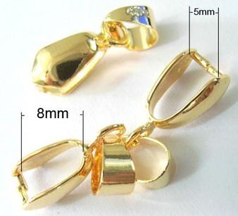 10 pack of Gold Pinch Bails: Bail 20*7mm, Pinch inner diameter 5*8mm