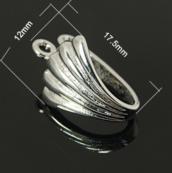 4 pack of Silver Donut Bail 17.5mm x 12mm