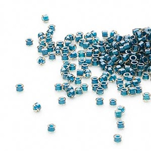 DB0921 - 11/0 - Miyuki Delica - Colour Lined Steel Blue - 50gms - Cylinder Seed Beads