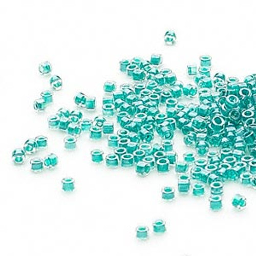 DB0918 - 11/0 - Miyuki Delica - Colour Lined Dark Turquoise Blue - 50gms - Cylinder Seed Beads