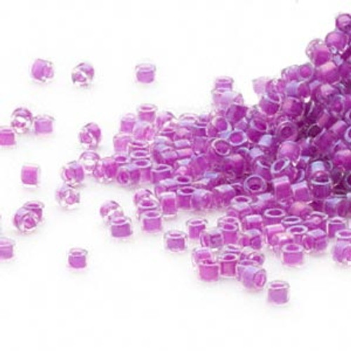 DB0073 - 11/0 - Miyuki Delica - Colour Lined Lilac - 50gms - Cylinder Seed Beads