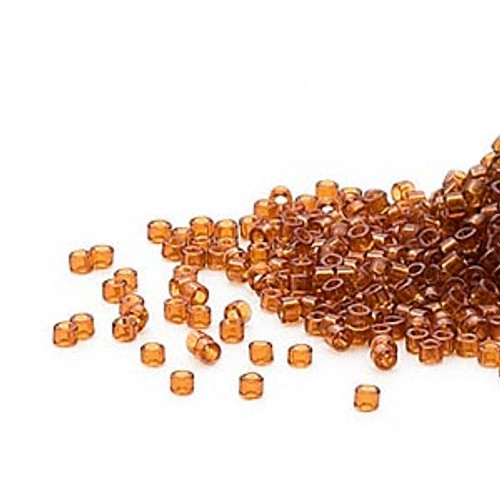 DB0709 - 11/0 - Miyuki Delica - Transparent Amber - 50gms - Cylinder Seed Beads