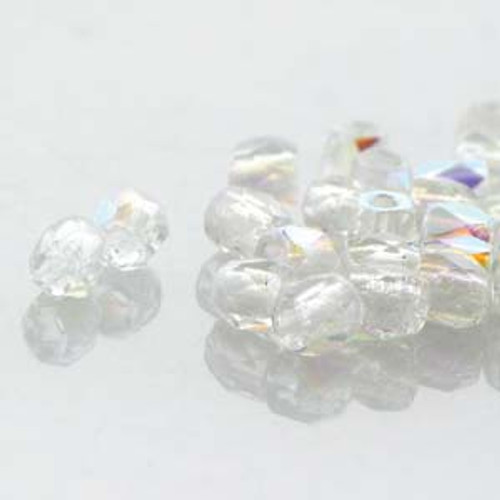 FPR0200030-28701 - TRUE 2 - Crystal AB - 100pcs - Czech Fire Polished beads