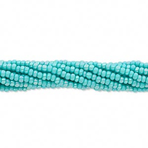 11-9419 - 11/0 - Czech - Opaque Sea Green Rainbow - 1/2 Kilo - Glass Round Seed Beads