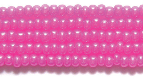 SB11-17177 - 11/0 - Czech Beads - Dyed Pink on Alabaster - Hank - Glass Round Seed Beads