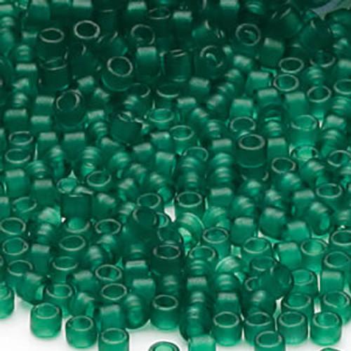 DB0776 - 11/0 - Miyuki Delica - Transparent Matte Pine Green - 50gms - Cylinder Seed Beads