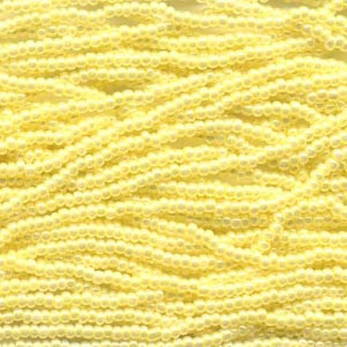 SB11-37186 - 11/0 - Czech Beads - Yellow Ceylon - Full Hank - Glass Round Seed Beads