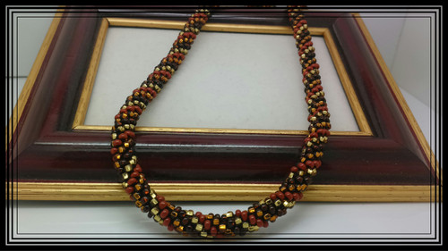 Easybeads 4 Colour Spiral Beaded Kumihimo Pattern