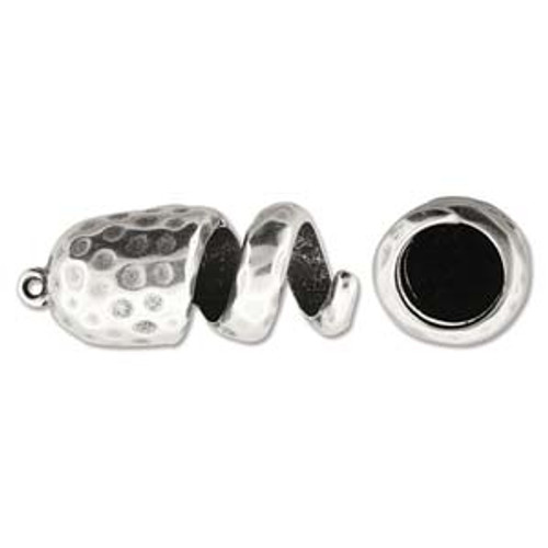 Climbing Rope finding - Ant Silver Spiral Ham Ending 15mm x 36mm ID-10mm - Sold individually