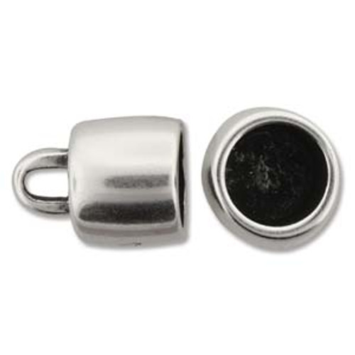 Climbing Rope Finding - Ant Silver Round Ending 13.8mm x 16.9mm ID-10mm - Sold per pair