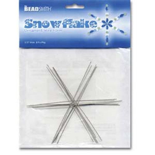 "Snowflake Ornament Wire Form 4.5"" Wide 7 Piece Pkg"