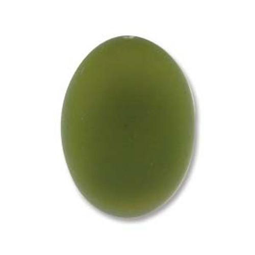 1 x Lunasoft Cabochon Oval 18.5mm x 13.5mm Olive