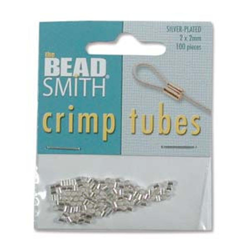 Tube Crimp Pack - 2mmx2mm - Silver - 100 Pieces