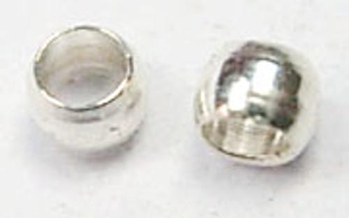 5 gram bag of Round Metal Crimps 2mm Silver (approx 500 crimps)