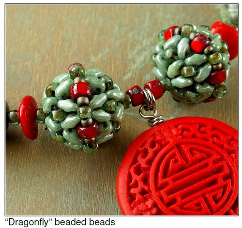 Free Download - Dragonfly beaded beads