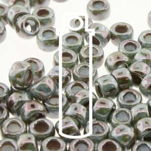 1 x Vial of Czech Matubo 6/0 Seed Bead - Chalk Lazure Blue