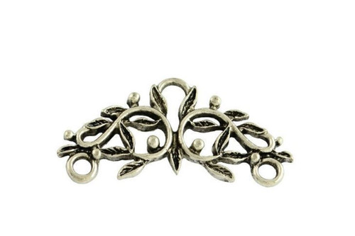 6 x alloy chandelier component 29mm x 14mm, 2mm thick Ant Silver