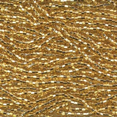 SB6-17020 - Straw Gold S/L Size 6 Half Hank Seed Beads