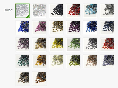 144 pk Glass Hotfix Rhinestone Grade AA, Flat Back & Faceted, Crystal 2.7-2.8mm