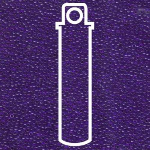 15-151 - 15/0 - Miyuki - Transparent Matte Sapphire - 8.2gms Vial Glass Round Seed Beads