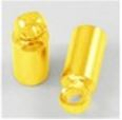 30 x Cord Ends (2.1mm I.D), 8mm*2.8mm Gold (Fits kumihimo Braid - with Size 8 Cotton)