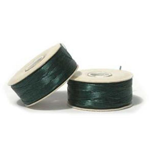 Thread, Nymo®, nylon. 1 x Bobbin Size D - 64yds Evergreen