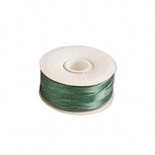 Thread, Nymo®, nylon. 1 x Bobbin Size D - 64yds Green