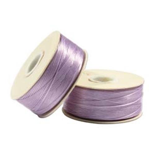 Thread, Nymo®, nylon. 1 x Bobbin Size D - 64yds Lilac