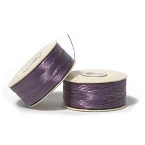 Thread, Nymo®, nylon. 1 x Bobbin Size D - 64yds Light Purple
