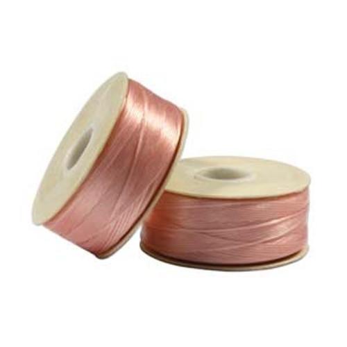 Thread, Nymo®, nylon. 1 x Bobbin Size D - 64yds Pink