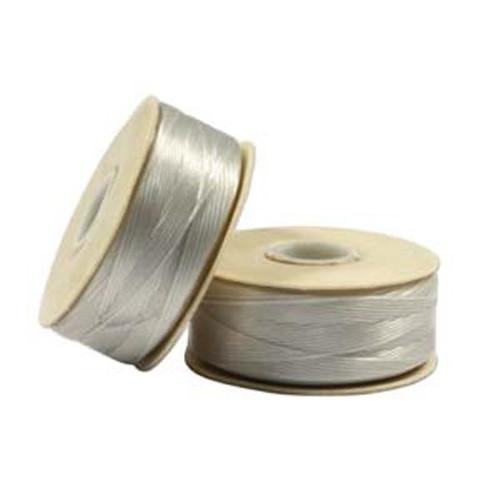 Thread, Nymo®, nylon. 1 x Bobbin Size D - 64yds Sterling
