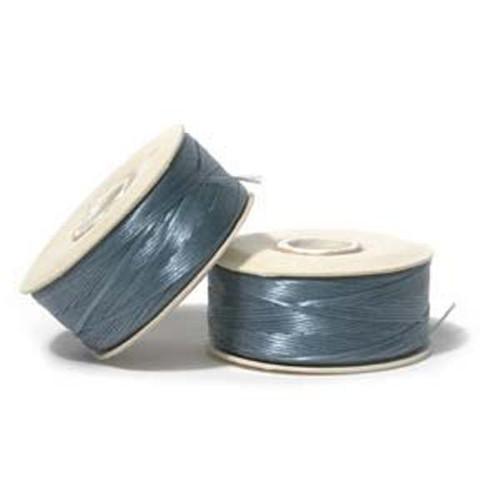Thread, Nymo®, nylon. 1 x Bobbin Size D - 64yds Turquoise Blue