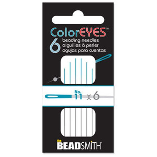 ColorEYES™ - The Beadsmith Beading Needle (6pk) Size 11 Blue