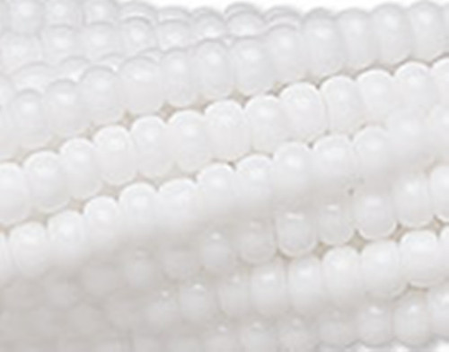 SB8-03050 - 8/0 - Czech Beads -  Chalk - Half Hank - Glass Round Seed Beads
