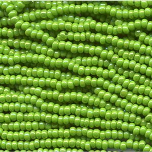 SB6-54310 - Pale Green AB Size 6 Half Hank Seed Beads