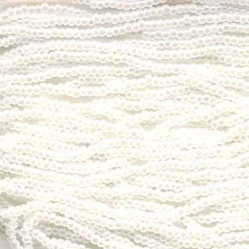 SB6-57102 - White Pearl Size 6 Half Hank Seed Beads