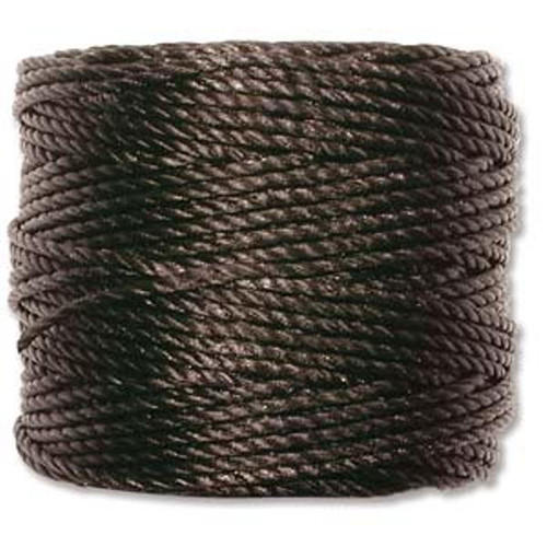 SLon-Tex-400-Heavy-Macrame-Cord-35yd-spool-diameter-of-0-9mm-3ply Black