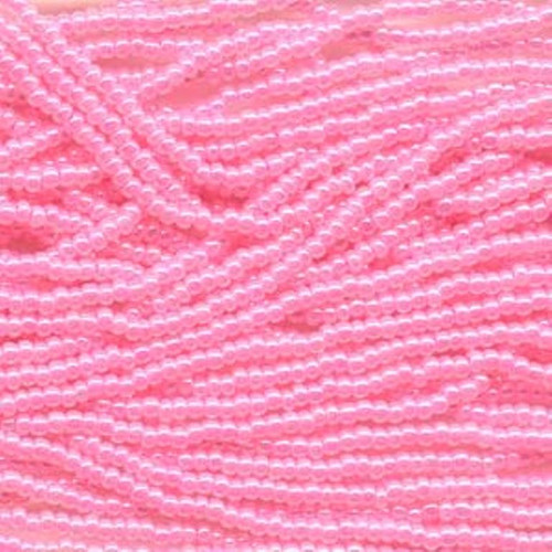 SB11-37175 - 11/0 - Czech Beads - Pink Ceylon - Hank - Glass Round Seed Beads
