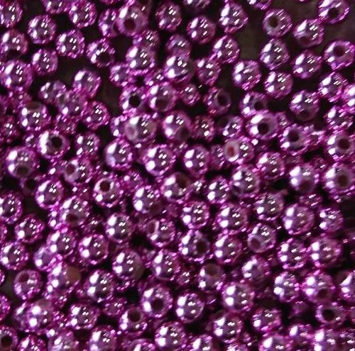 10gms Acrylic Round 4mm beads Pink (approx 375 beads)