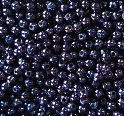 10gms Acrylic Round 4mm beads Dark Blue/Purple (approx 375 beads)