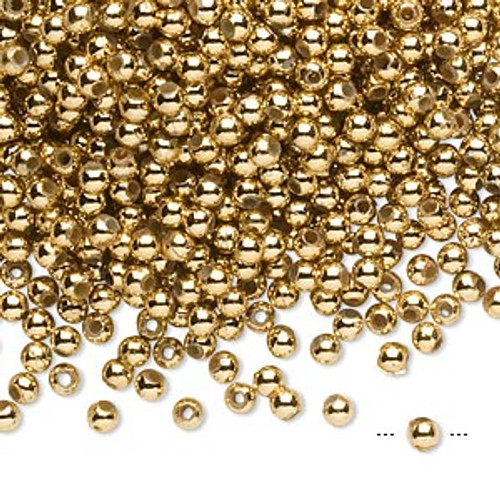 10gms Acrylic Round 3mm beads Gold  Shiny (approx 800 beads)