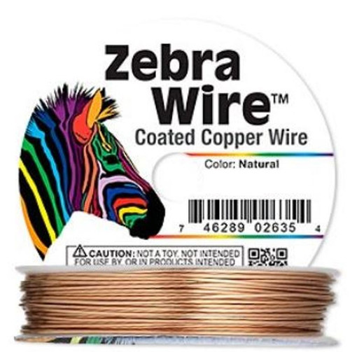 1 x reel of Zebra Wire round - 24 guage (20 yards, 18 metres) Copper