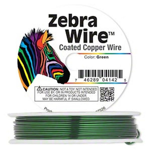 1 x reel of Zebra Wire round - 24 guage (20 yards, 18 metres) Green