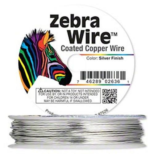1 x reel of Zebra Wire round - 24 guage (20 yards, 18 metres) Silver
