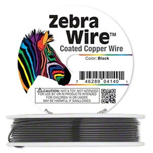 1 x reel of Zebra Wire round - 24 guage (71 yards, 65metres) Black