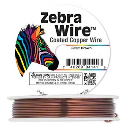 1 x reel of Zebra Wire round - 24 guage (71 yards, 65metres) Brown